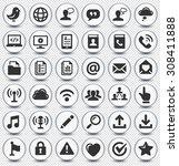 modern communication and online ... | Shutterstock .eps vector #308411888