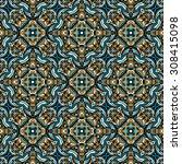 seamless vector pattern.... | Shutterstock .eps vector #308415098