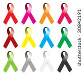 collection of awareness ribbons ... | Shutterstock . vector #30842191