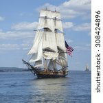 a tall ship known as a... | Shutterstock . vector #308424896