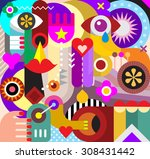 Abstract Art Vector Background. ...