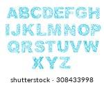 ice letters set | Shutterstock .eps vector #308433998