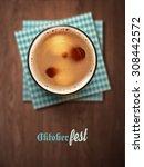oktoberfest  beer festival  eps ... | Shutterstock .eps vector #308442572