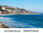 Shore In Malibu. Stones Along...