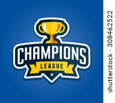 champion sports league logo... | Shutterstock .eps vector #308462522