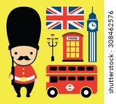 london icon vector | Shutterstock .eps vector #308462576