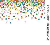 confetti background template  ... | Shutterstock .eps vector #308472716