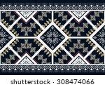 geometric ethnic pattern... | Shutterstock .eps vector #308474066