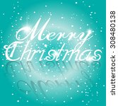 christmas greeting card. merry... | Shutterstock .eps vector #308480138