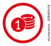 coins vector icon. this flat... | Shutterstock .eps vector #308485418