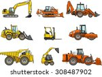 set of heavy construction...   Shutterstock .eps vector #308487902