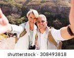 Happy Hiking Couple Taking...