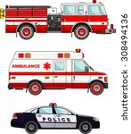 detailed illustration of fire... | Shutterstock .eps vector #308494136