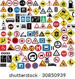 different type of road signage | Shutterstock .eps vector #30850939