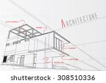 architecture background | Shutterstock .eps vector #308510336
