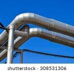 pipeline of the power station | Shutterstock . vector #308531306