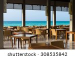 restaurant with view of the... | Shutterstock . vector #308535842