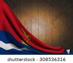 flag of kiribati on wooden... | Shutterstock . vector #308536316