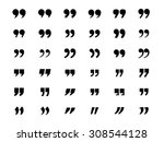 set of quotation marks | Shutterstock .eps vector #308544128