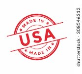 Made In Usa Red Vector Graphic...