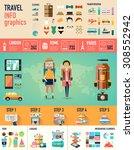 concept of travel infographics... | Shutterstock .eps vector #308552942