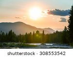 canadian mountains | Shutterstock . vector #308553542