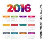 2016 Vector Calendar Template...