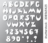letters and numbers are sloppy...   Shutterstock .eps vector #308565425