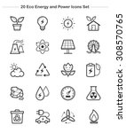 line icon   eco energy and... | Shutterstock .eps vector #308570765