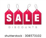 sale discounts. vector tags | Shutterstock .eps vector #308573102