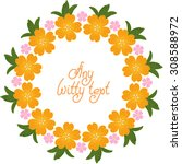 cute pattern border frame with... | Shutterstock .eps vector #308588972
