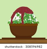 green tea shaved ice vector