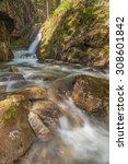 mountain river flowing through... | Shutterstock . vector #308601842