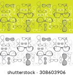 seamless horizontal background... | Shutterstock .eps vector #308603906