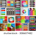 colorful modern text box... | Shutterstock .eps vector #308607482