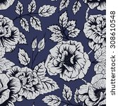 vector seamless pattern with... | Shutterstock .eps vector #308610548