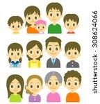 families | Shutterstock .eps vector #308624066