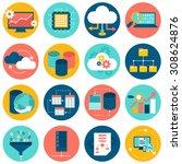 data analysis database network... | Shutterstock . vector #308624876
