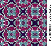 vector seamless pattern ethnic... | Shutterstock .eps vector #308631632