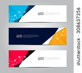 vector design banner background.... | Shutterstock .eps vector #308637356