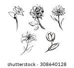 set of five elegant sketches...