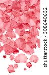watercolor red blotches ... | Shutterstock . vector #308640632