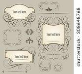 vintage label | Shutterstock .eps vector #308648768
