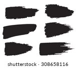 vector set of grunge brush... | Shutterstock .eps vector #308658116