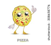 pizza frenzy character  thumb... | Shutterstock .eps vector #308658776
