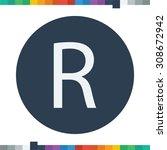 r letter icon. | Shutterstock .eps vector #308672942