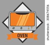 home appliance digital design ... | Shutterstock .eps vector #308674556