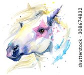 White Horse T Shirt Graphics....