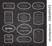 vector of vintage frame set on... | Shutterstock .eps vector #308689655