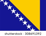 bosnia and herzegovina flag | Shutterstock .eps vector #308691392